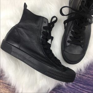 Topshop | Leather Titan Converse Style High-Tops